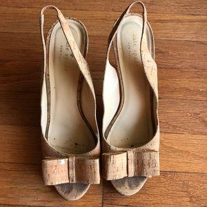 RARE Kate Spade New York Cork Celeste Heels Sz 9.5